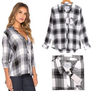 Rails Black and White Plaid Flannel